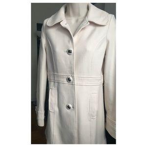 Anthropologie Tulle Cream Wool Coat - S